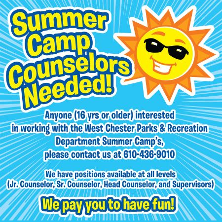 Summer Camp Counselors Needed Brochure