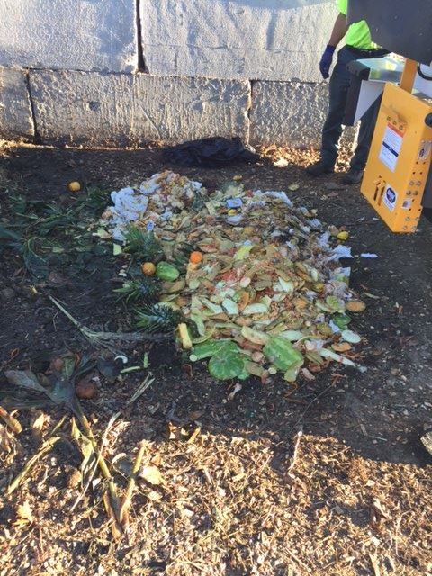 Food waste will be covered until ready to be incorporated into the site's windrows